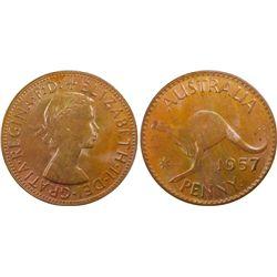 1957P Penny PCGS MS64 BN