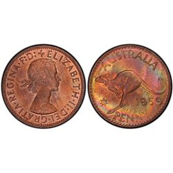 1959P penny PCGS MS63 BN