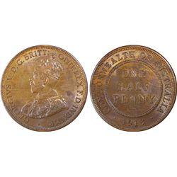 1913 Half Penny PCGS MS63 BN