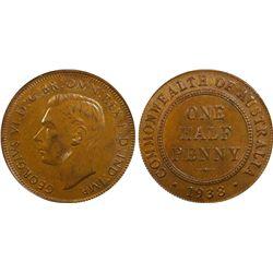 1938 Half Penny MS63 BN