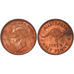 1943I Half Penny MS64 RB