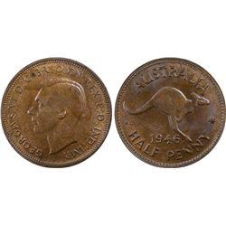 1946 Half Penny MS63 BN
