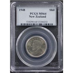 1948 New Zealand Shilling PCGS MS64