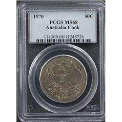 Australia 1970 50c PCGS MS68