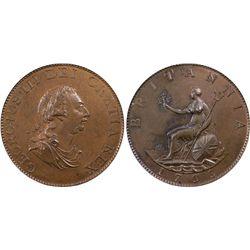 GB Half Penny 1799 PCGS MS63 Brown