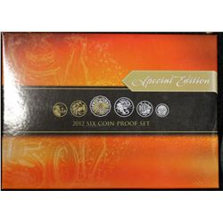 2012 Proof Set , Special Edition, Gold plated 50 cent piece