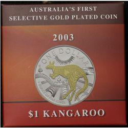2003 Selective Gold Plated $1 Kangaroo