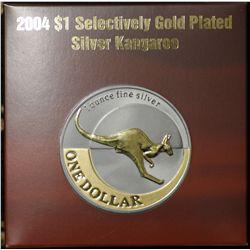 2004 Selective Gold Plated $1 Kangaroo