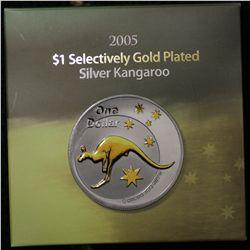 2005 Selective Gold Plated $1 Kangaroo