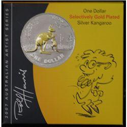 2007 Selective Gold Plated $1 Kangaroo, Rolf Harris