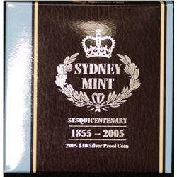 $10 Silver Proof Coin 2005 Sydney Mint Sesqui centenary