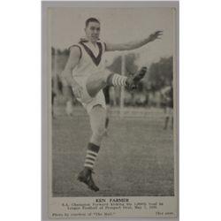 1938 Ken Farmer 1000th goal commemorative tribute card