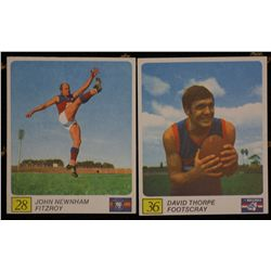 """Kellogg"" cutouts issued 1970 – large sized cards 104mm x 84 mm"