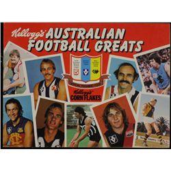 """Kelloggs"" Australian Football Greats 1981"