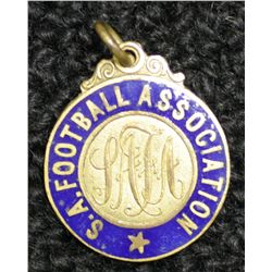 Australian Carnival 1908 S.A.F.A metal and enamel medallion