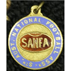 Australian Carnival 1924 S.A.F.A metal and enamel medallion