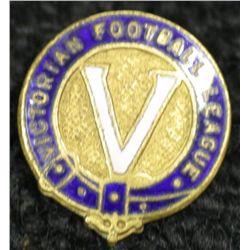 V.F.A Badge dated 1957 + V.F.L Lapel badge circa 1950