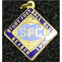 Sturt Football Club Badge, dated 1922, number 444