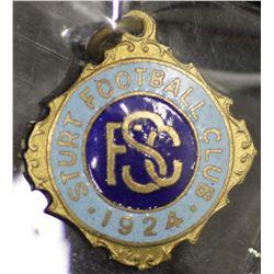 Sturt Football Club Badge, dated 1924, number 464