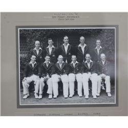 Original Team Photo 1936, 2nd test Aust V Eng Informal Team Portrait