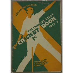 """The Sporting Globe"" cricket book 1932/1933"