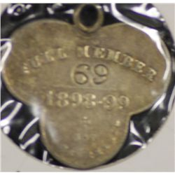 S.A.C.A (Adelaide Oval) Membership Medallion 1898/1899.