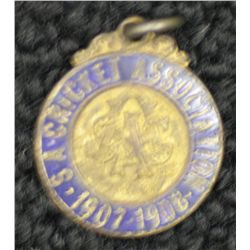 S.A.C.A (Adelaide Oval) Membership Medallion 1907/1908.