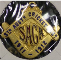 S.A.C.A (Adelaide Oval) Membership Medallion 1911/1912.