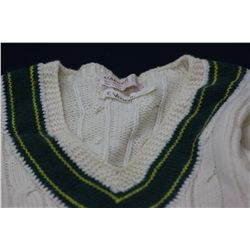 """Tom Yievers' Match Worn Jumper c 1960's"
