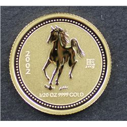 Australia 1/20 oz Year of the horse in box of issue
