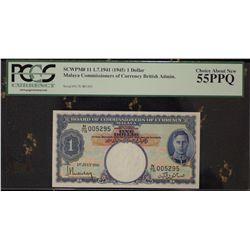 Malaya 1945 $1 Dollar Consecutive Trio