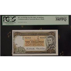Australia Consecutive Pair QE 11 10 Shillings