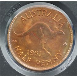 Australia 1961 Perth Halfpenny Proof