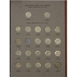 Complete set of Australian Threepences & sixpences