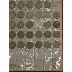 Set NZ Coins 1933 to 1965 ( No ½ Crowns)