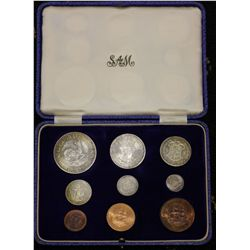 South Africa Proof Set 1951 farthing to Crown