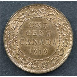 Canada 1c 1919, Full red  Uncirculated, 1924 Uncirculated MS62 Brown