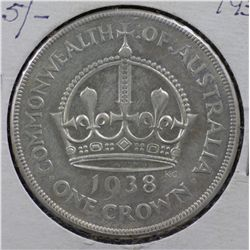 Australia 1937 & 1938 Crown