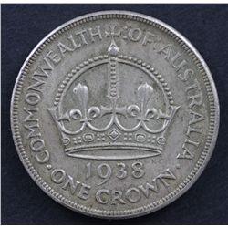 Australia 1937 Crown EF, 1938 Crown EF