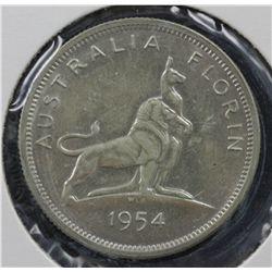 Australia 1954 RV Florins, Choice Unc (3) 1951 Jubilee Choice Unc (1)