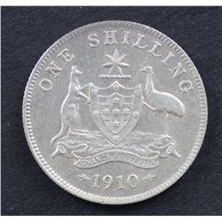 Australia Shilling 1910 Very Fine