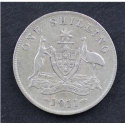 Australia Shillings 1911 Fine, 1912 Good Fine Scarce