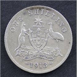 Australia Shillings 1913 Good Fine , 1914 Very Fine