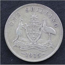 Australia Shilling 1915 Good Fine