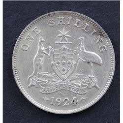 Australia Shilling 1924 good VF