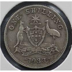 Australia 1933 Shilling Very Good