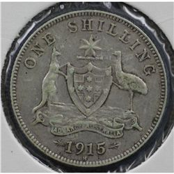 1915H Shilling Nearly VF