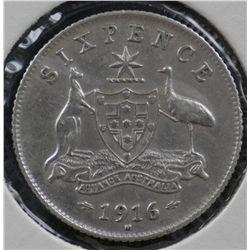 Sixpences 1916,1917,1918 Very Fine