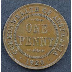 1920 Penny Good VF, 1949, 1953, 1955 Pennies Brilliant Uncirculated