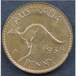 Australia Pennies 1938, 1948, 1949 & 1953 Uncirculated